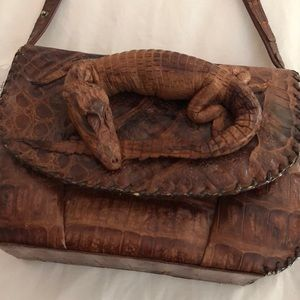 Genuine alligator leather purse w/ real gator